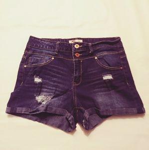 L.e.I Tatum High Waisted Denim Shorts